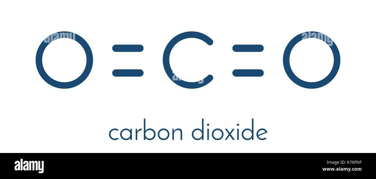 Carbon dioxide co2 molecule flat icon style greenhouse gas carbon dioxide co2 molecule flat icon style greenhouse gas skeletal formula buycottarizona Images