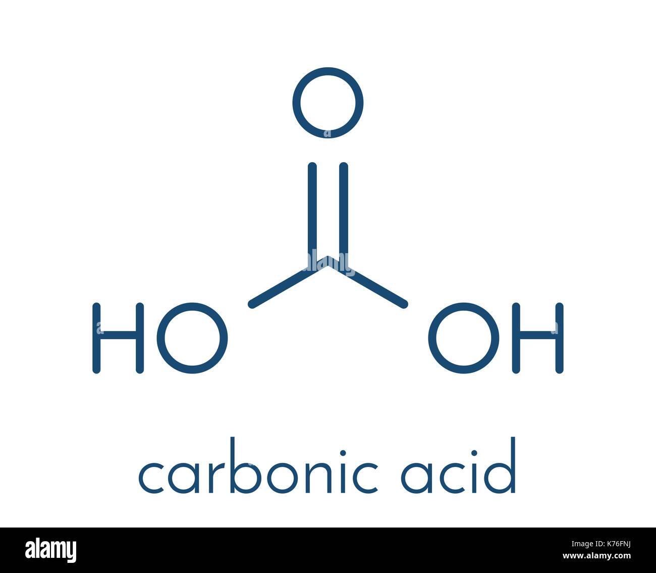Carbon dioxide molecule stock photos carbon dioxide molecule formed when carbon dioxide is dissolved in water carbonated water pooptronica Images