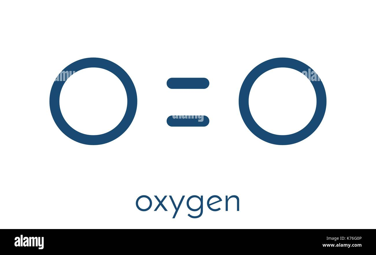 Atomic oxygen stock photos atomic oxygen stock images alamy elemental oxygen o2 molecule skeletal formula stock image gamestrikefo Gallery