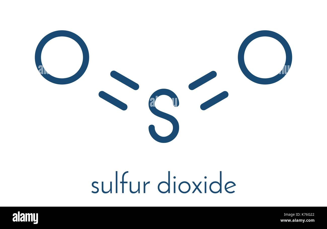 Sulfur Dioxide Food Preservative Molecule E220 Also Used In Stock