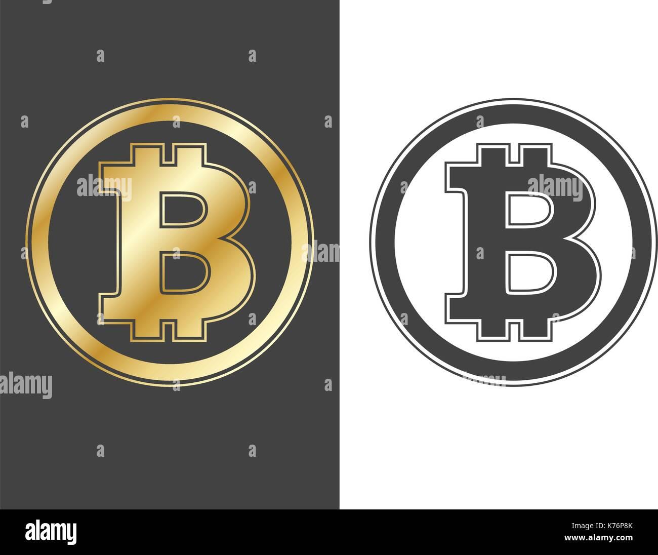 B  Bitcoin Gold Icon Mone...