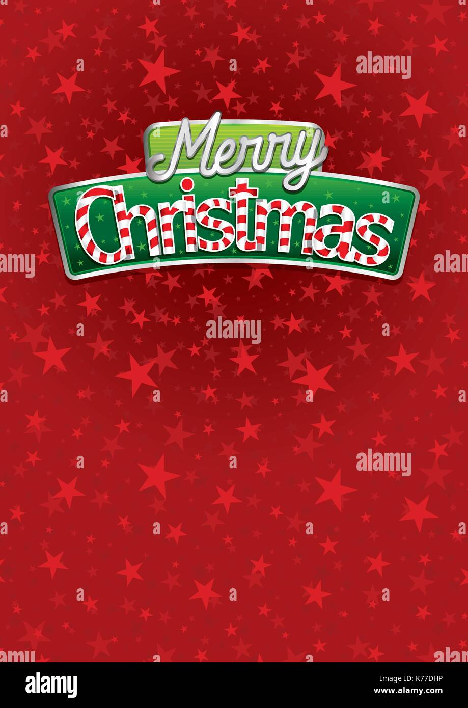 Merry christmas lettering red cover of greeting card with stars red cover of greeting card with stars texture in background layout size 21 cm x 297 cm a4 size lettering design kristyandbryce Images
