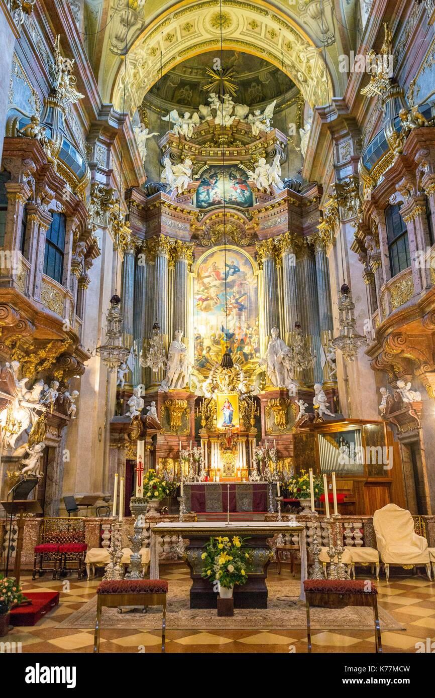 Austria Vienna Petersplatz St Peters Church Peterskirche Stock
