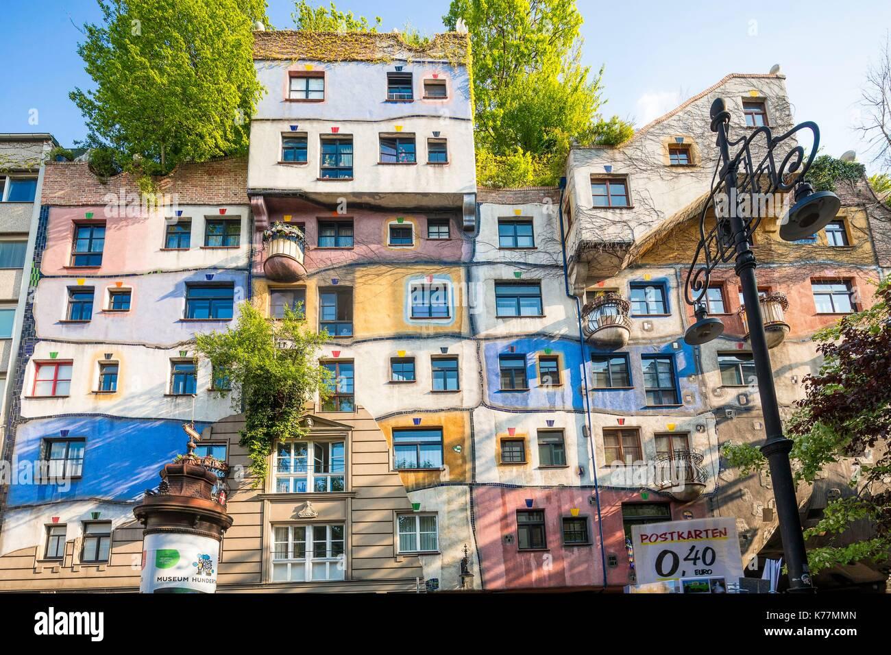 Austria Vienna Kegelgasse Hundertwasser Haus House Designed In