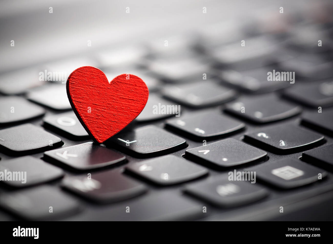 Heart symbol on computer keyboard stock photos heart symbol on small red heart on keyboard internet dating concept stock image biocorpaavc