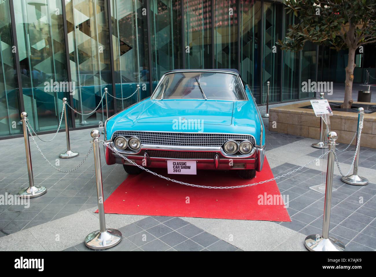 Beirut Lebanon 15th Sep 2017 1962 Lincoln 4 Door Convertible On