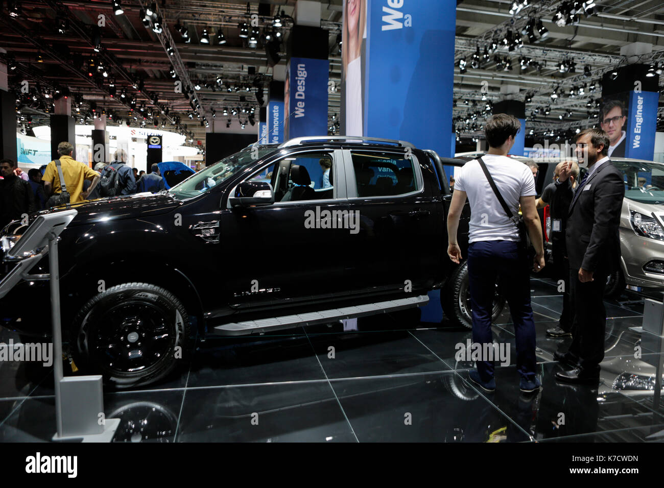 The american car manufacturer ford motor company presents the ford ranger black edition limited at the 67 iaa the 67 internationale automobil ausstellung