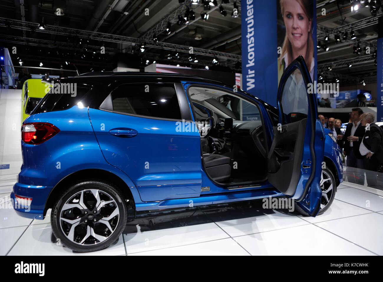 The american car manufacturer ford motor company presents the ford ecosport st line at the 67 iaa the 67 internationale automobil ausstellung iaa