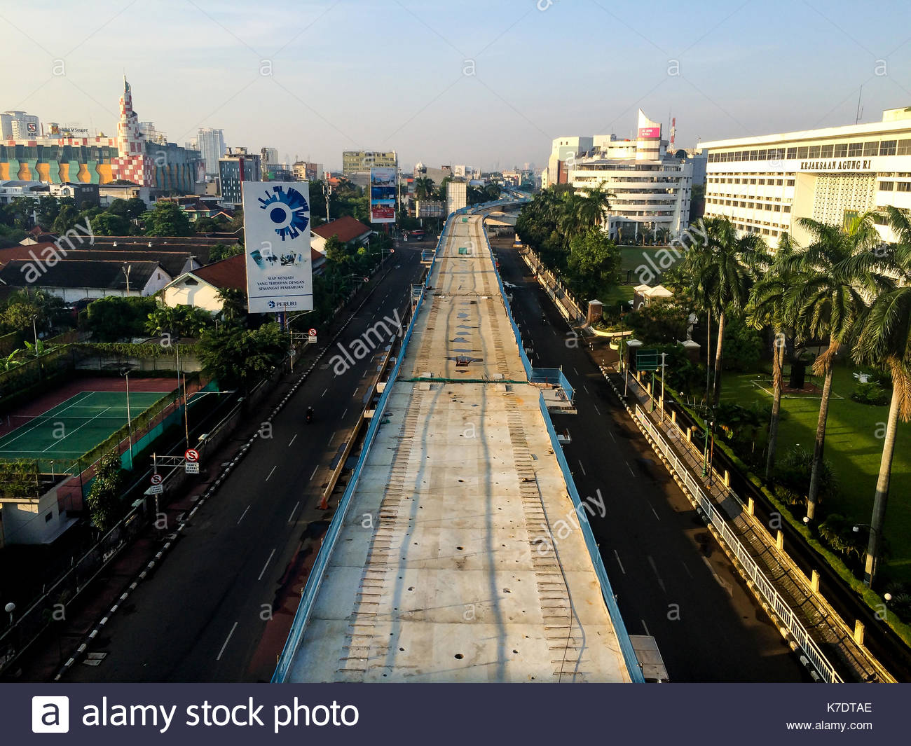 Mrt Construction In Jakarta Indonesia Stock Photo 159500390 Alamy