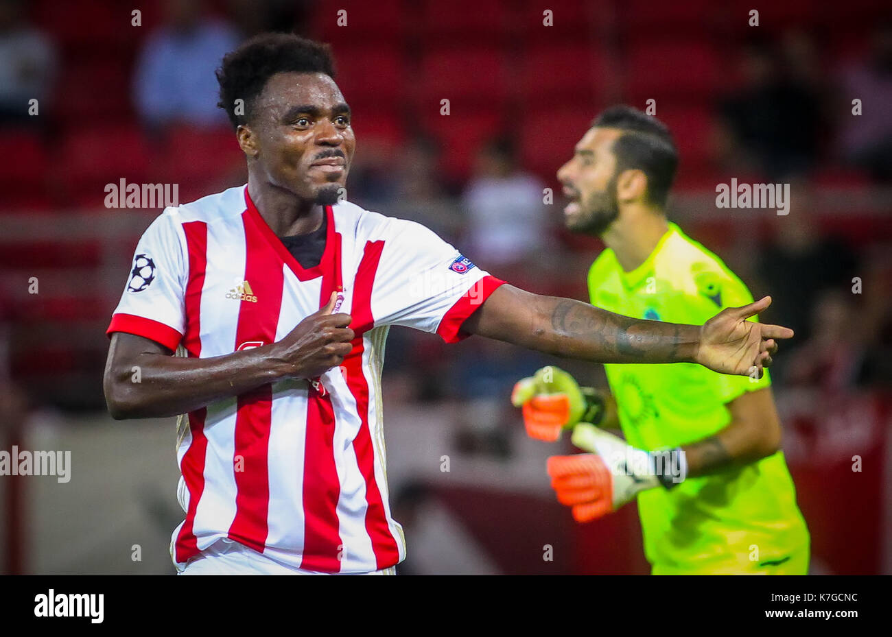 Piraeus Greece Sempteber 12 2017 Player of Olympiacos
