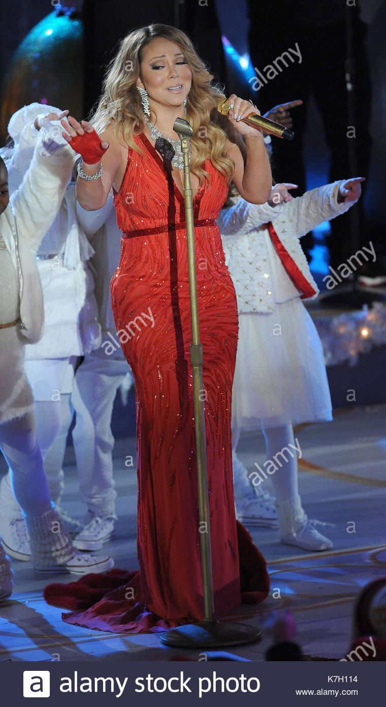 Mariah Carey. The 82nd annual Rockefeller Christmas Tree Lighting Ceremony at Rockefeller Center on December 3 2014 in New York City.  sc 1 st  Alamy & Mariah Carey. The 82nd annual Rockefeller Christmas Tree Lighting ...