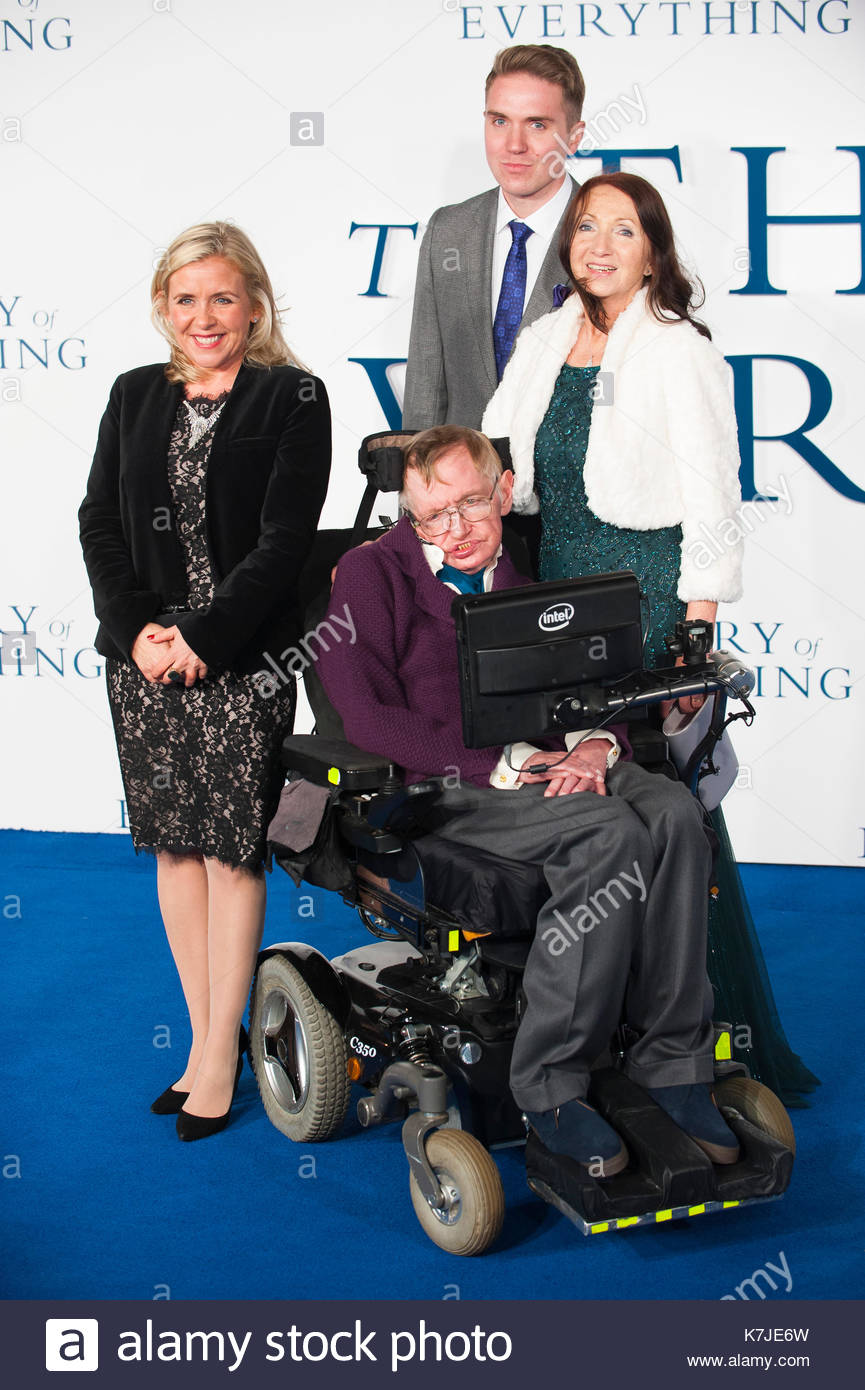 Lucy Hawking Jane Hawking And Stephen Hawking Uk Film Premiere Of The Theory Of Everything At Odeon Leicester Square