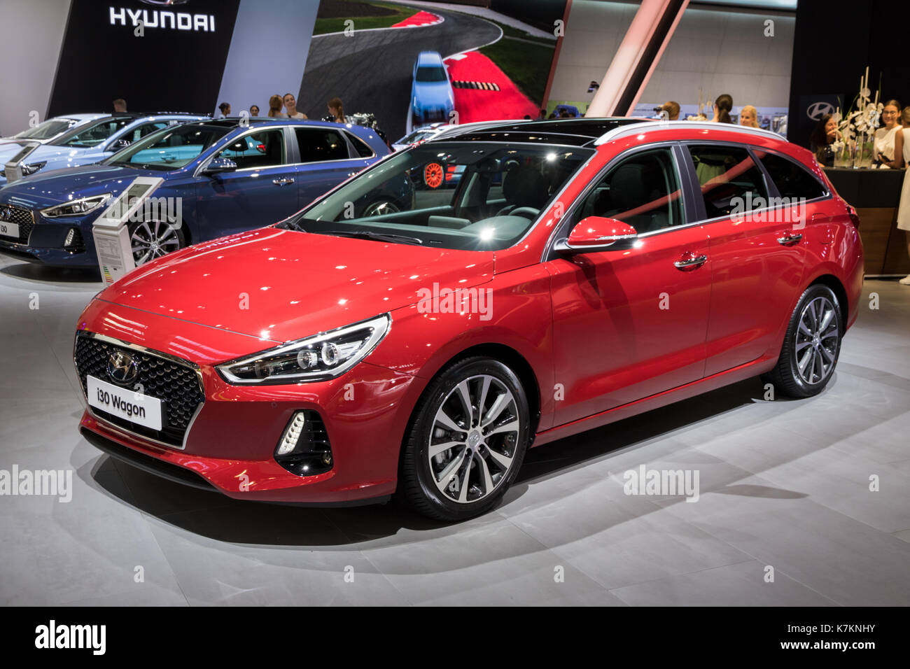 frankfurt germany sep 12 2017 new 2018 hyundai i30 wagon car at stock photo royalty free. Black Bedroom Furniture Sets. Home Design Ideas