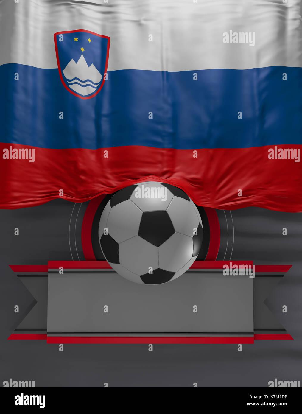 Flag Slovenian Colors, Slovenia Flag (3D Render Stock Photo, Royalty ...