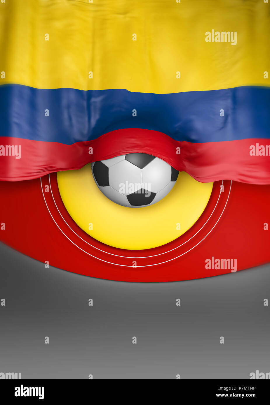 flag colombia render colombian flag 3d render stock photo