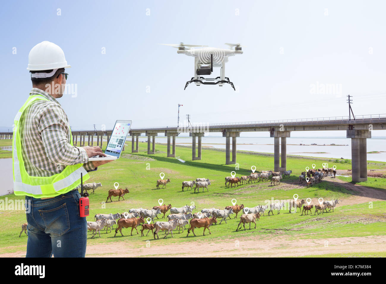drone gps tracking with Stock Photo Technician Farmer Use  Puter Control Drone Tracking The Cow In Smart 159637524 on 385254 together with 401216 likewise Cd649de24b in addition Gps Tracking For Hazardous Waste Transport additionally Block Diagram Gps Agriculture Wiring Diagrams.