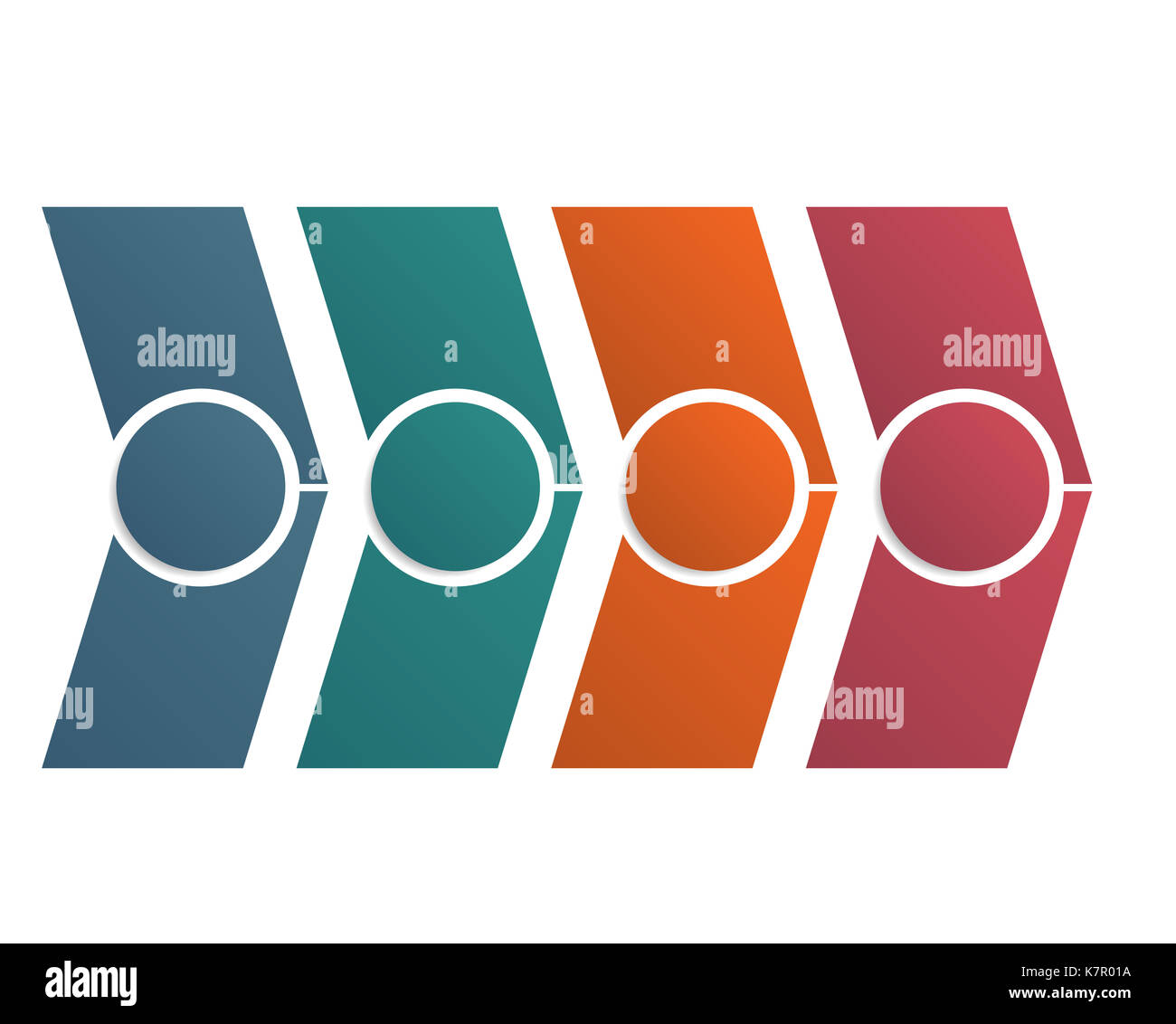 Timeline Arrows Infographic Colorful Diagram Template With 4 Stock
