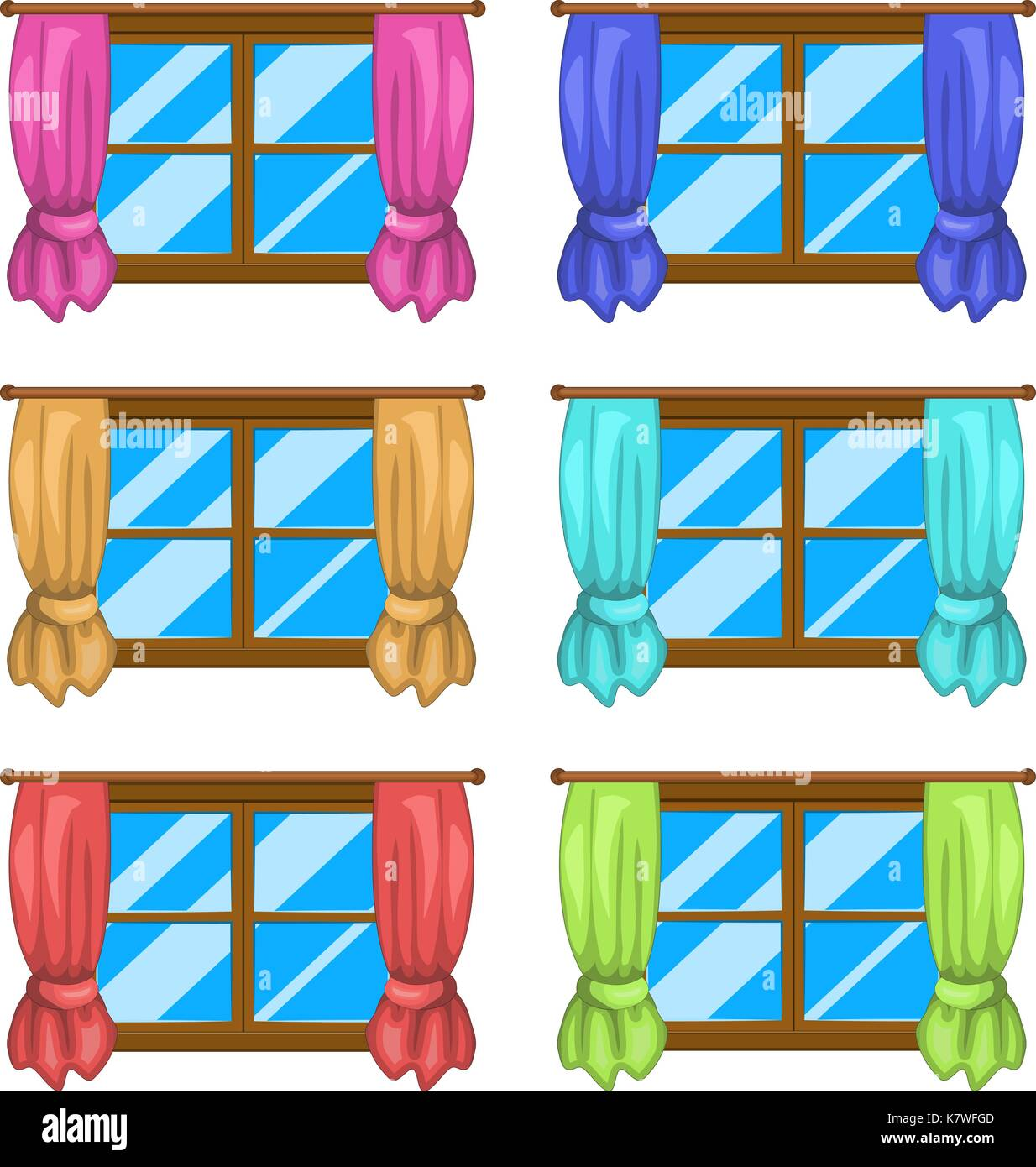 cartoon window with curtains vector symbol icon design. Beautiful ... for Window With Curtains Illustration  570bof