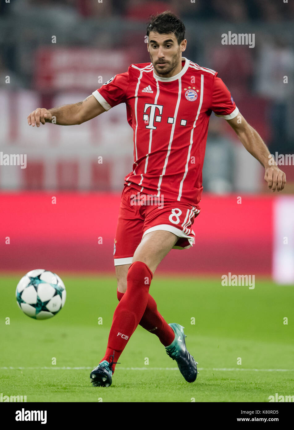 Munich Germany 13th Sep 2017 Munich s Javi Martinez in action
