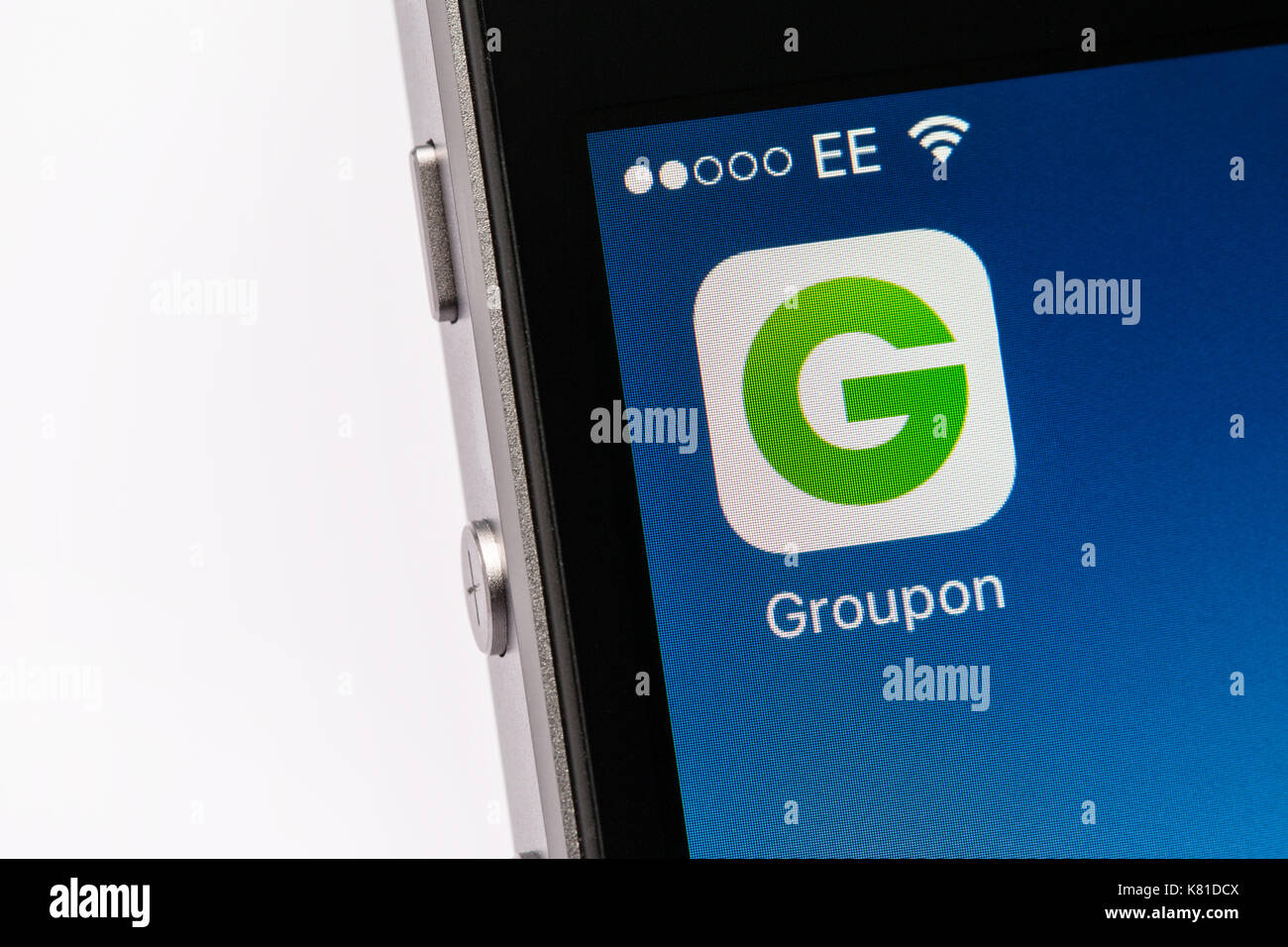 Groupon app stock photos groupon app stock images alamy groupon app on an iphone mobile phone stock image buycottarizona Image collections
