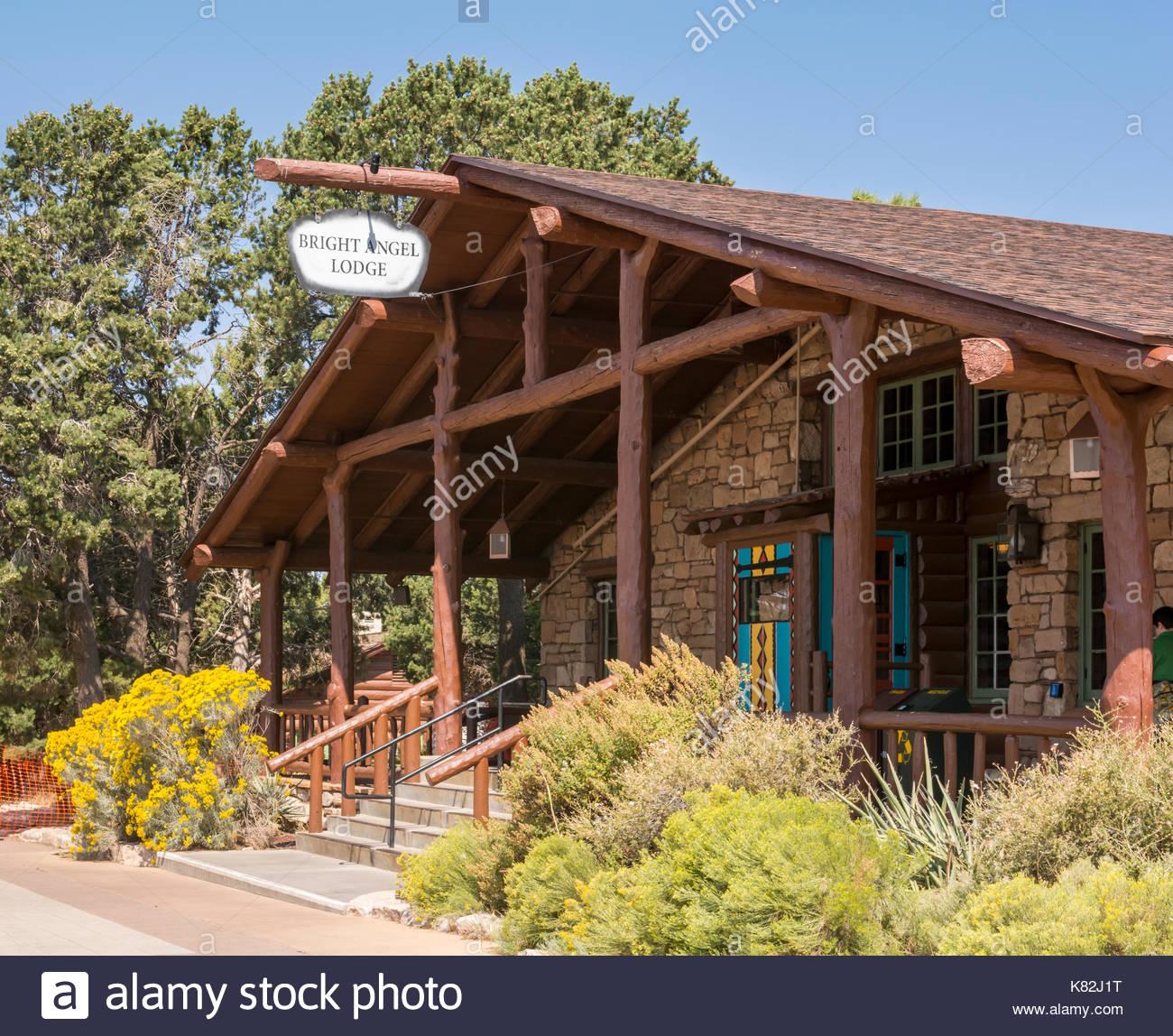 Bright Angel Lodge, Historic Lodge And Cabins At Grand Canyon National Park  South Rim, Arizona, USA