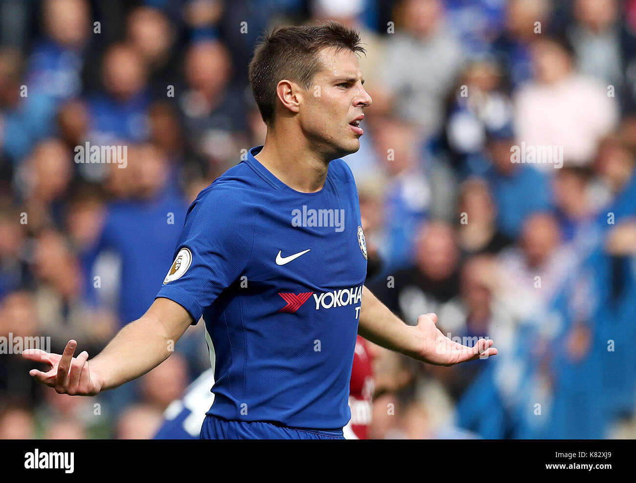 Chelsea s Cesar Azpilicueta during the Premier League match at