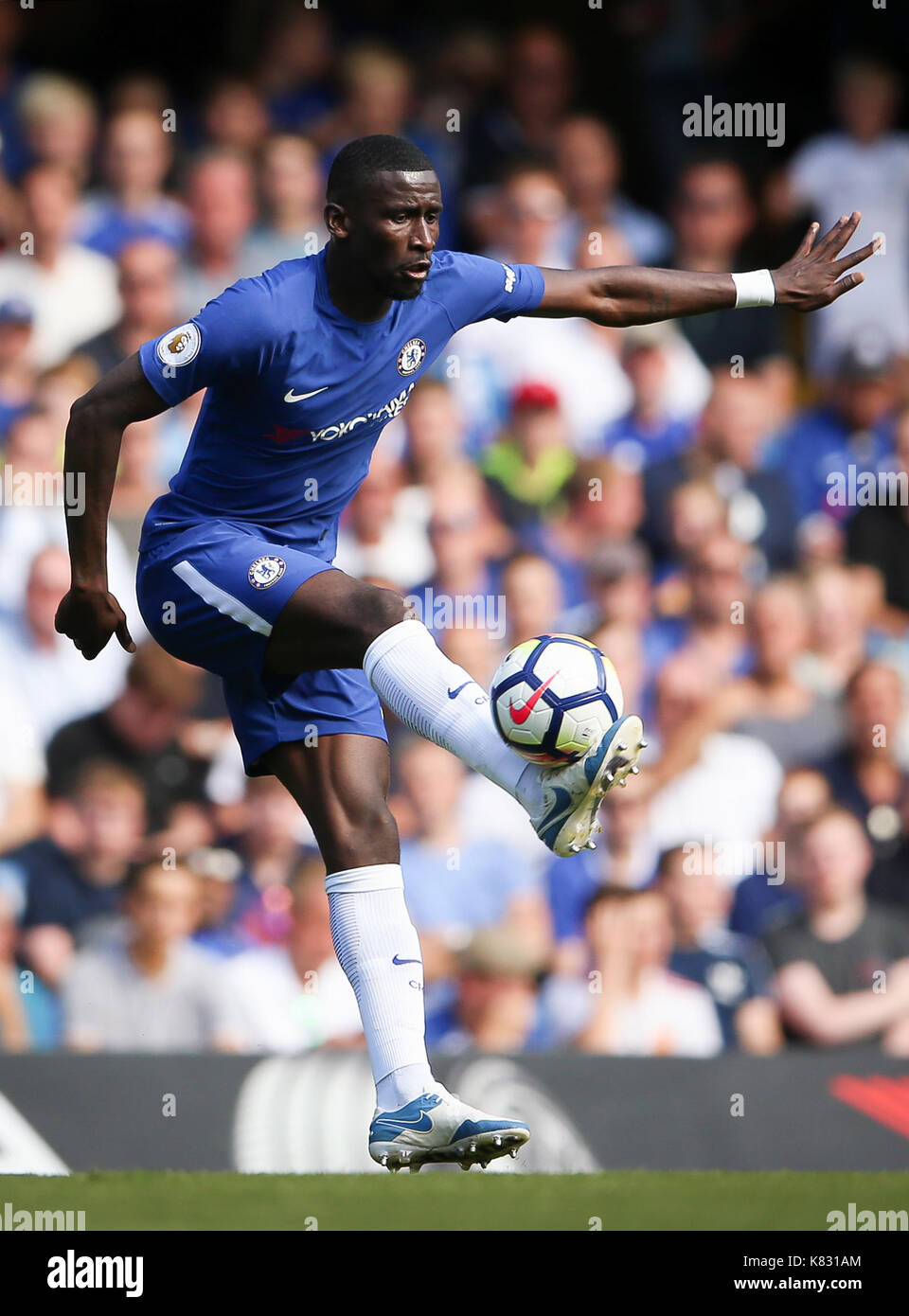 Chelsea s Antonio Rudiger during the Premier League match at