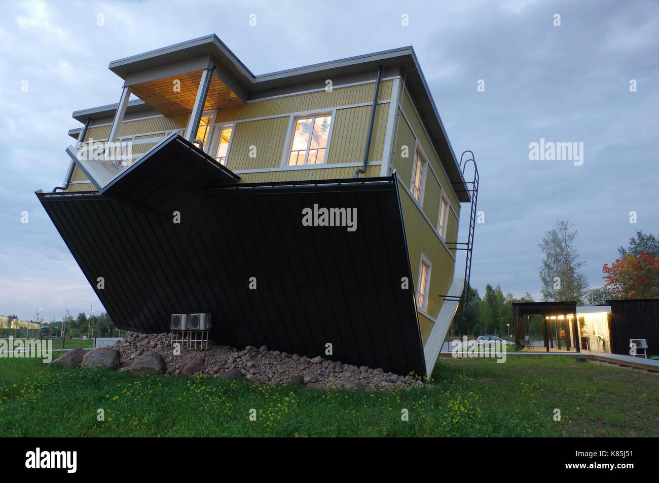 Upside down house in Tartu. Estonia 17th September 2017 Stock ...
