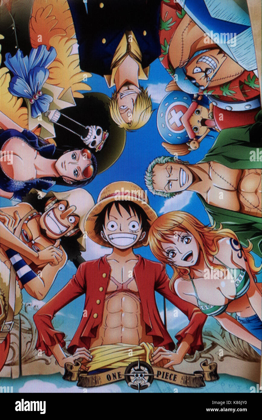 One piece japanese animation poster