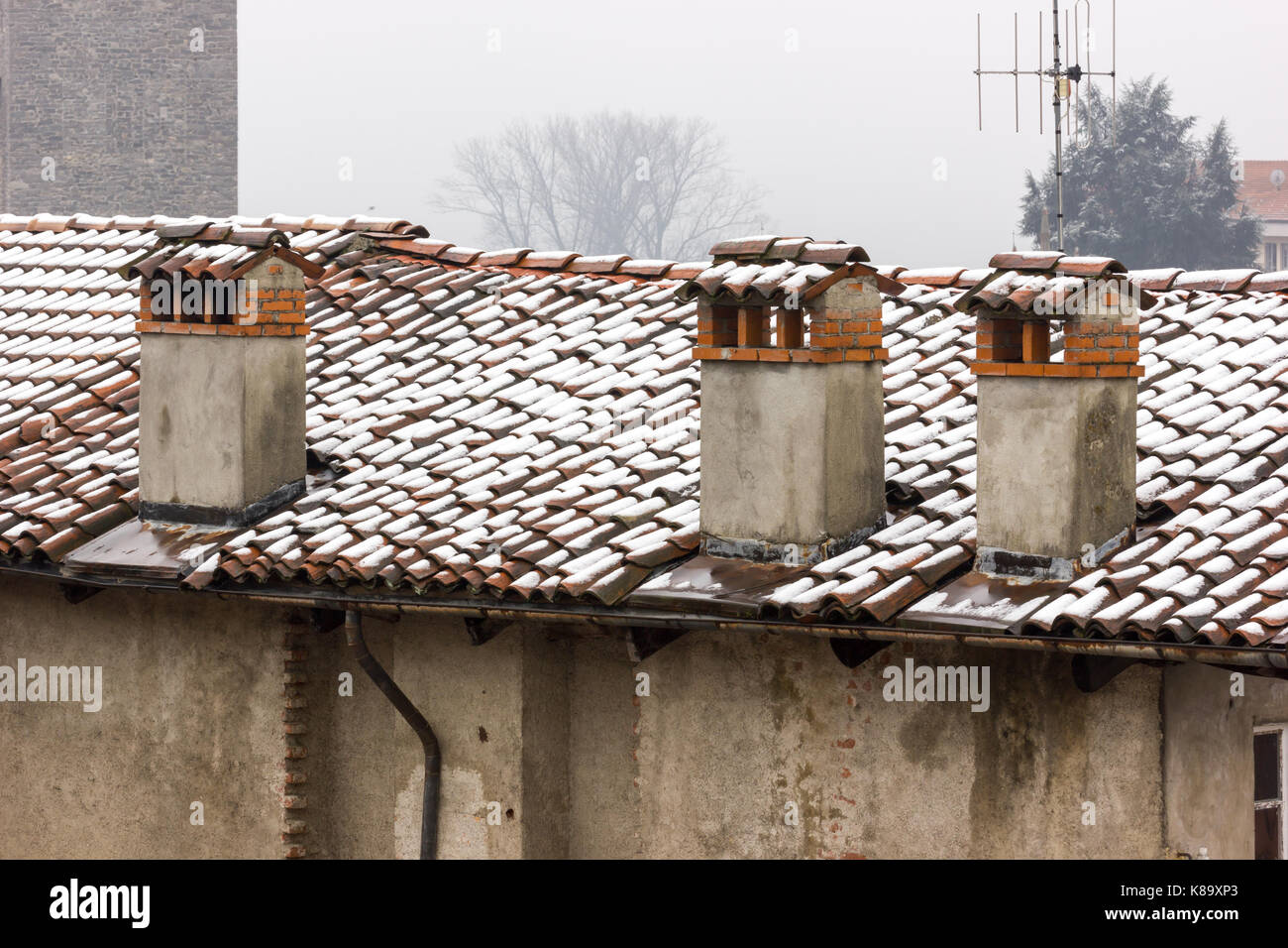 brick chimney roof tiles stock photos u0026 brick chimney roof tiles