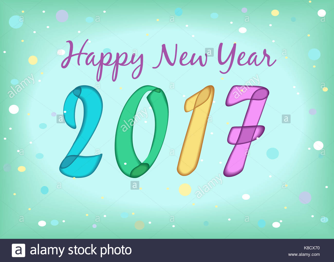Happy New Year 2017 Calendar Template Colorful Hand Drawn Symbols
