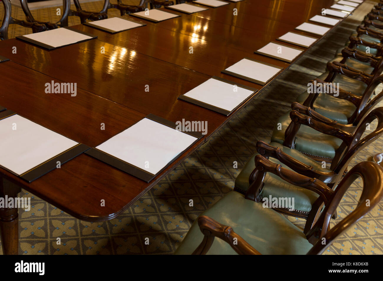 The Long Meeting Table In The Locarno Room At The Foreign And Stock - Long meeting table