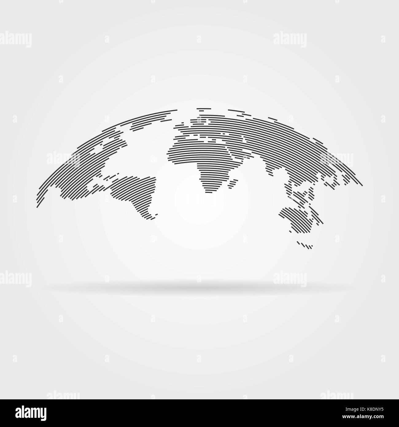 Simple world map stock photos simple world map stock images alamy simple black world map from thin line stock image gumiabroncs Gallery