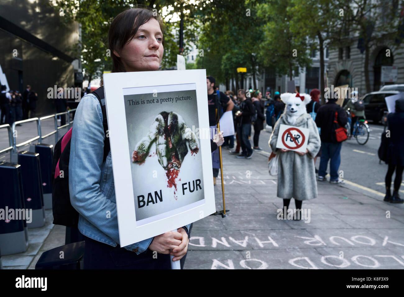 Anti Fur Protesters Stock Photos & Anti Fur Protesters ...