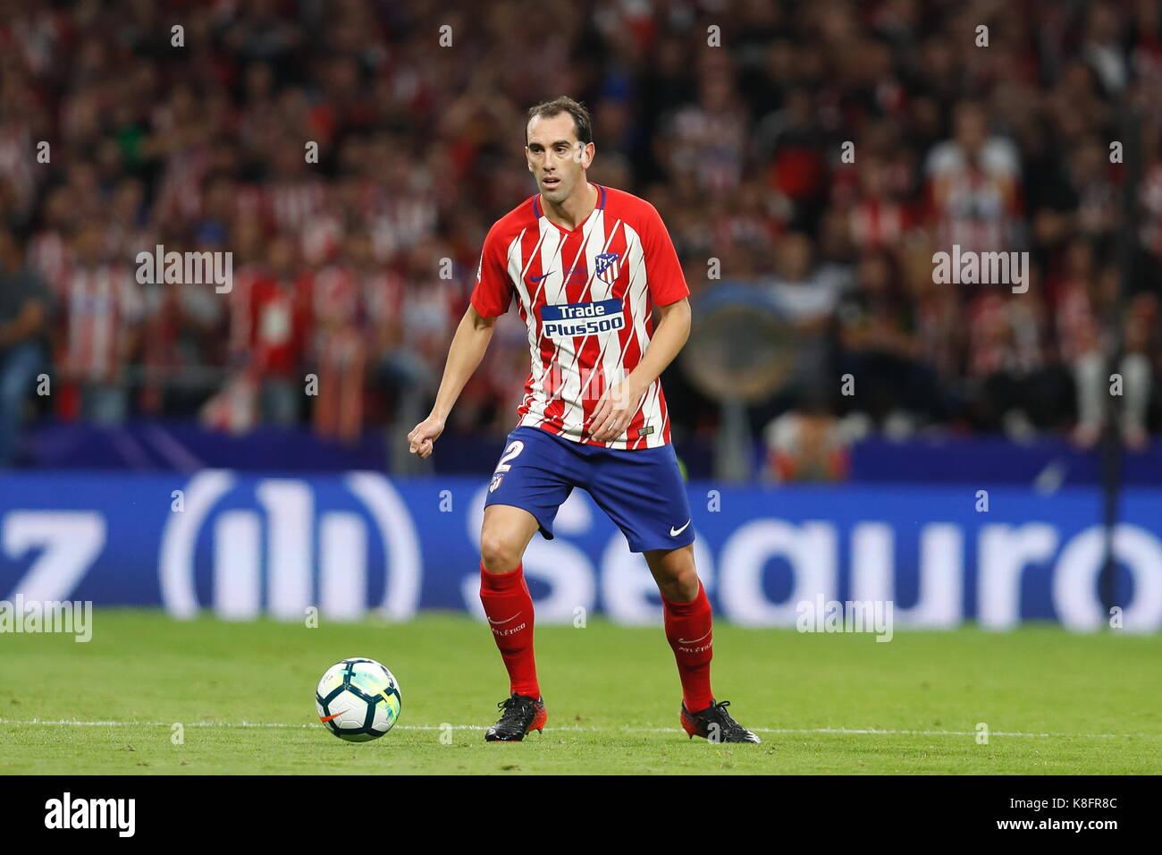 Madrid Spain 16th Sep 2017 Diego Godin Atletico Football