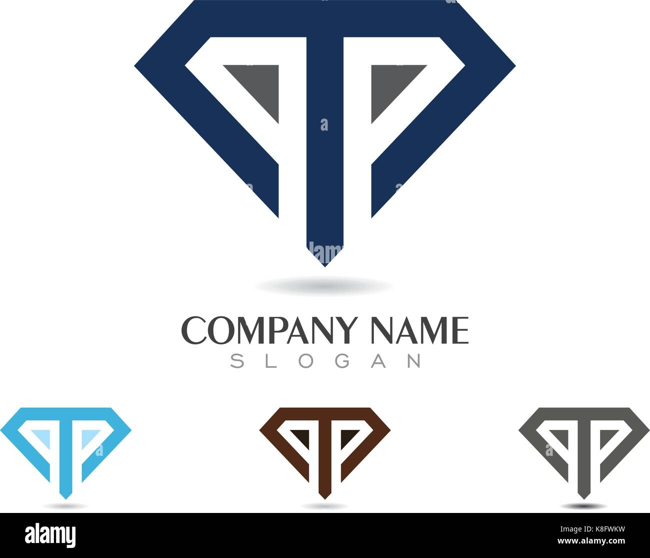 Diamond bar stock photos diamond bar stock images alamy p letter with diamond logo template stock image biocorpaavc