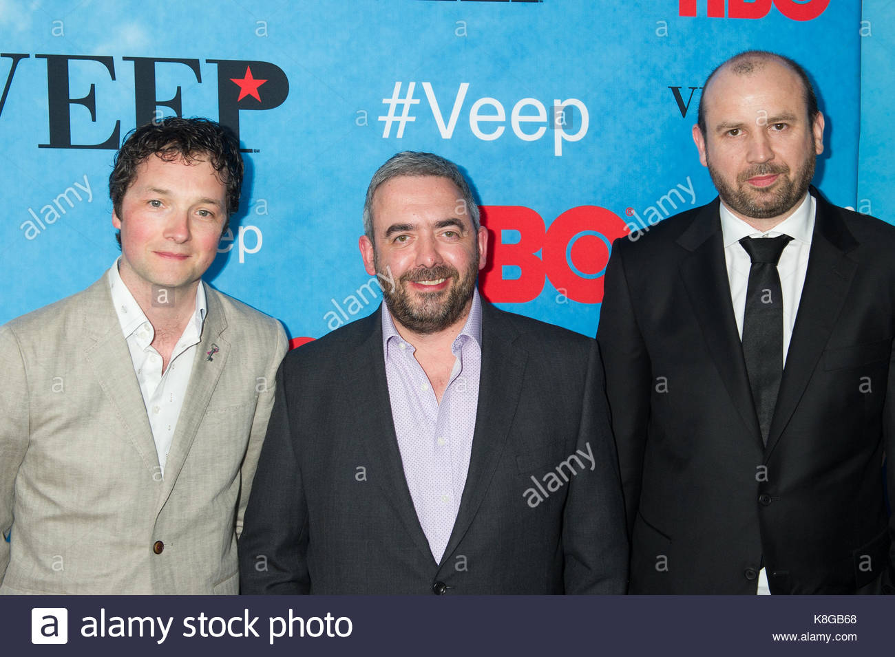 Chris Addison Simon Blackwell and Tony Roche Arrivals at the