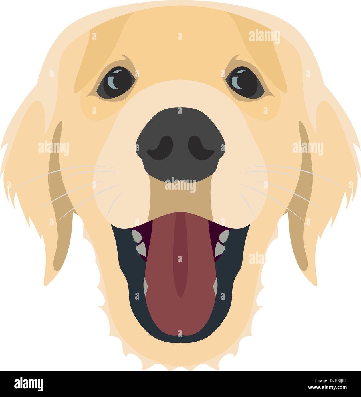 golden retriever dog stock vector images alamy