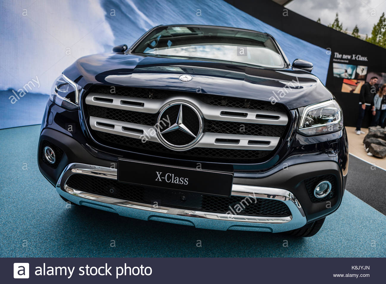 mercedes benz x 250 d 4matic pick up truck at iaa 2017 car stock photo royalty free image. Black Bedroom Furniture Sets. Home Design Ideas