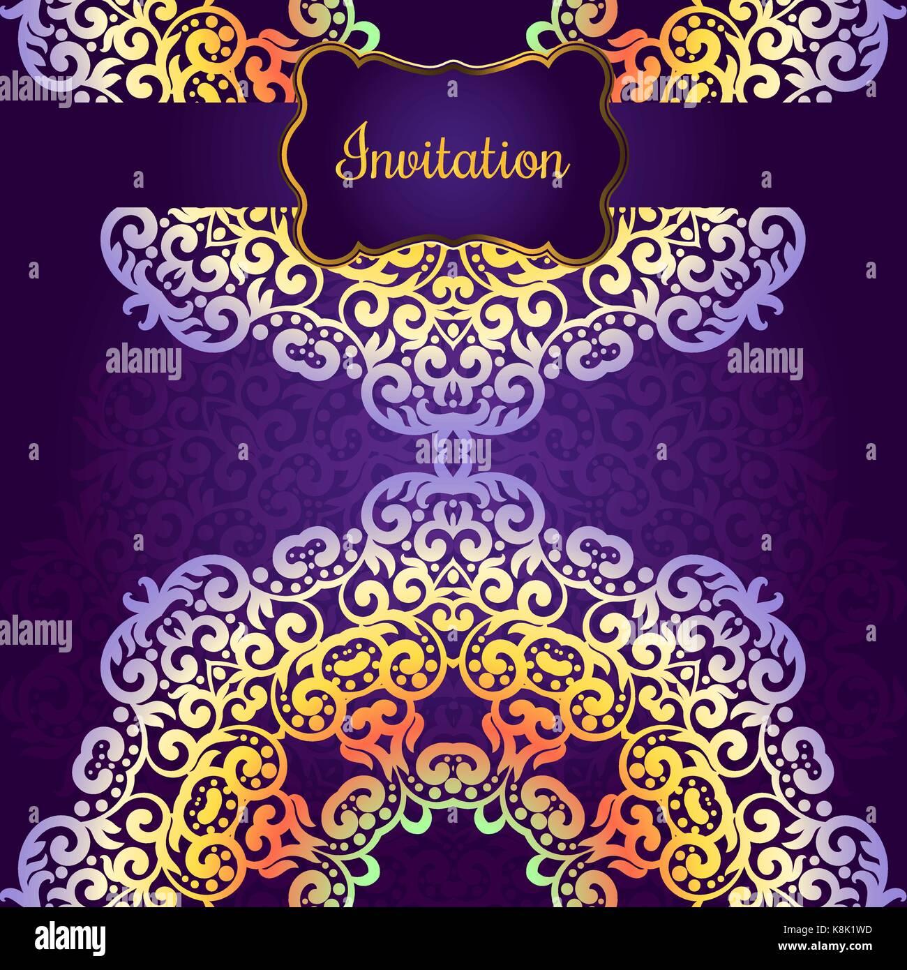 Wedding invitation delicate swirl mandala pattern vector stock wedding invitation delicate swirl mandala pattern vector background card or invitation vintage decorative elements soft colorful background isla stopboris Choice Image