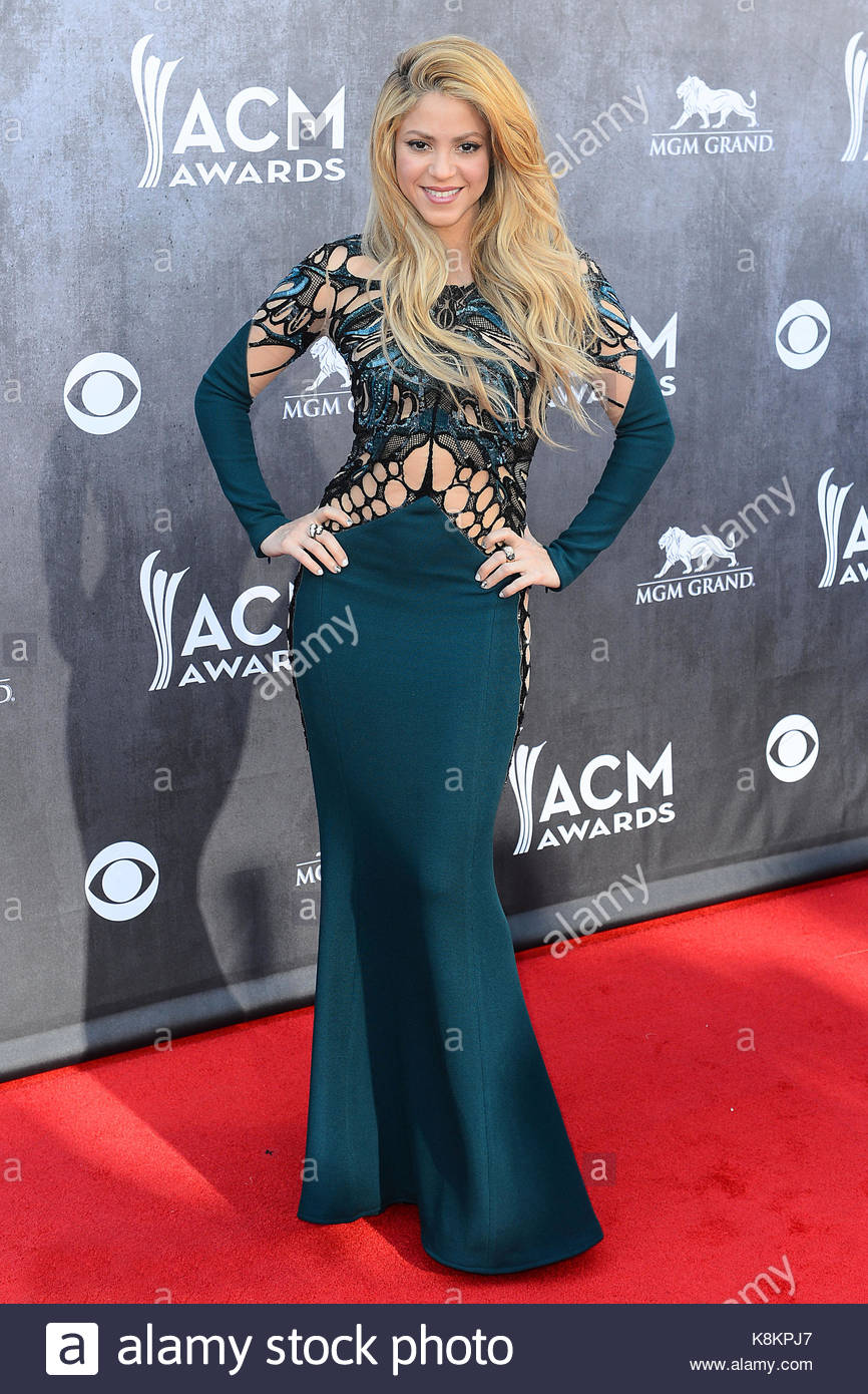 Shakira. 49th Annual Academy of Country Music Awards held at the MGM ...