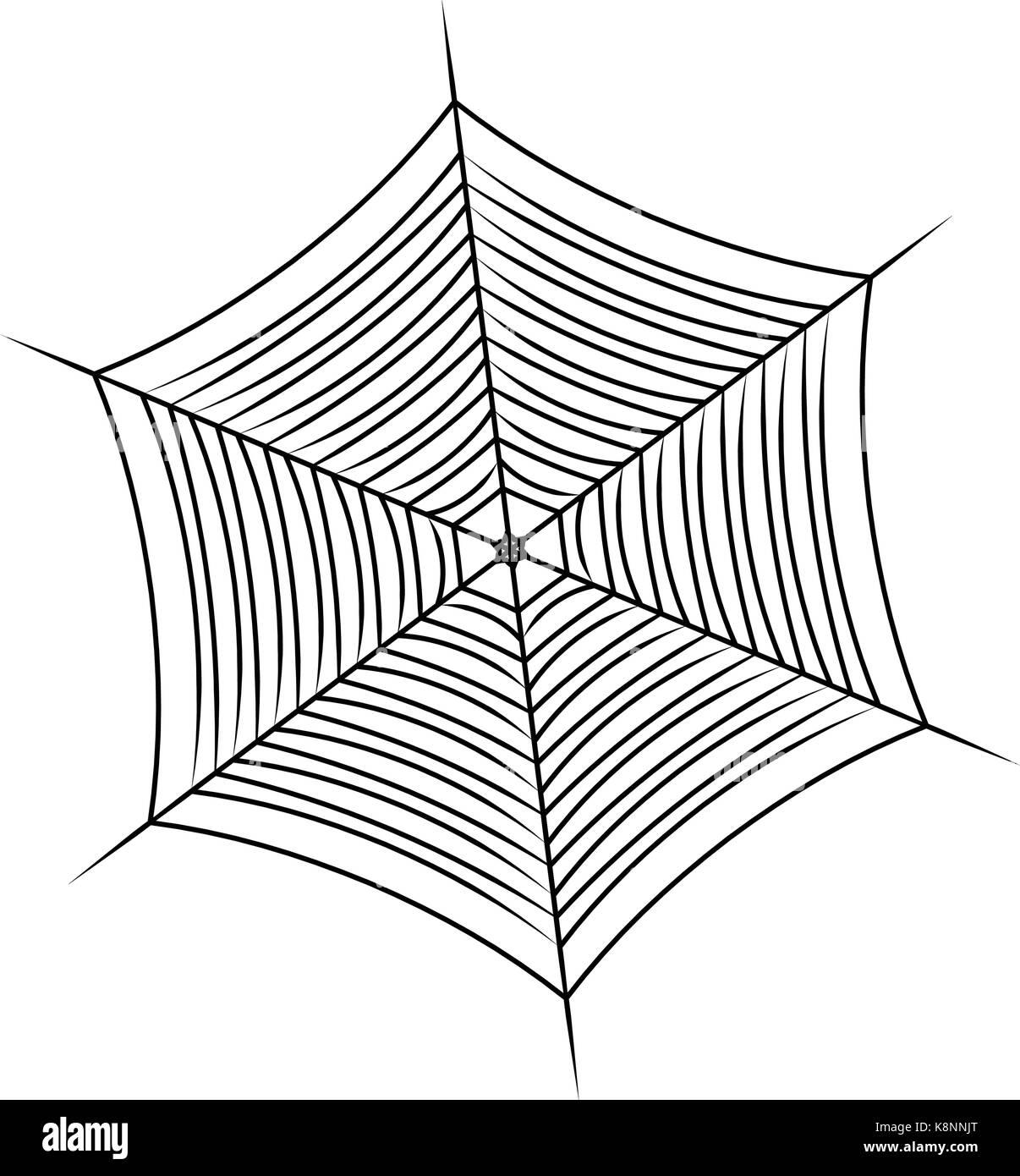 halloween spider web, cobweb symbol, icon. vector illustration stock