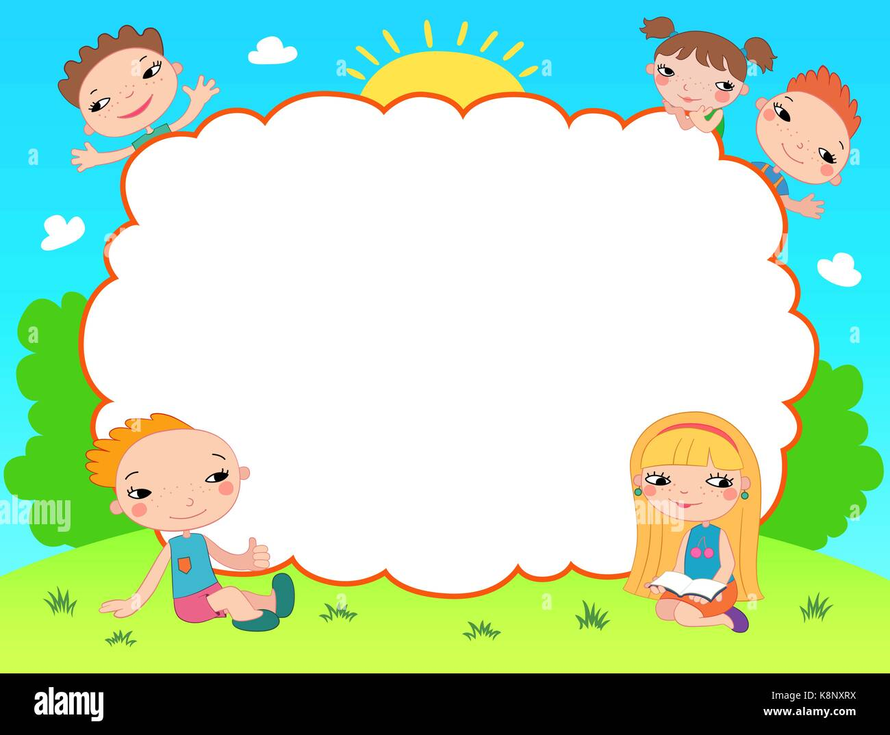 Stock Photo Kids Diploma Certificate Background Design Template 160292606 on Preschool Graduation Letter To Children