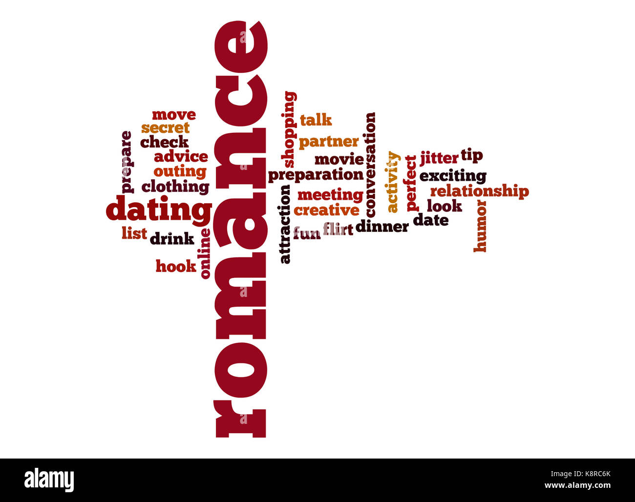 romance word cloud stock photo 160325051 alamy
