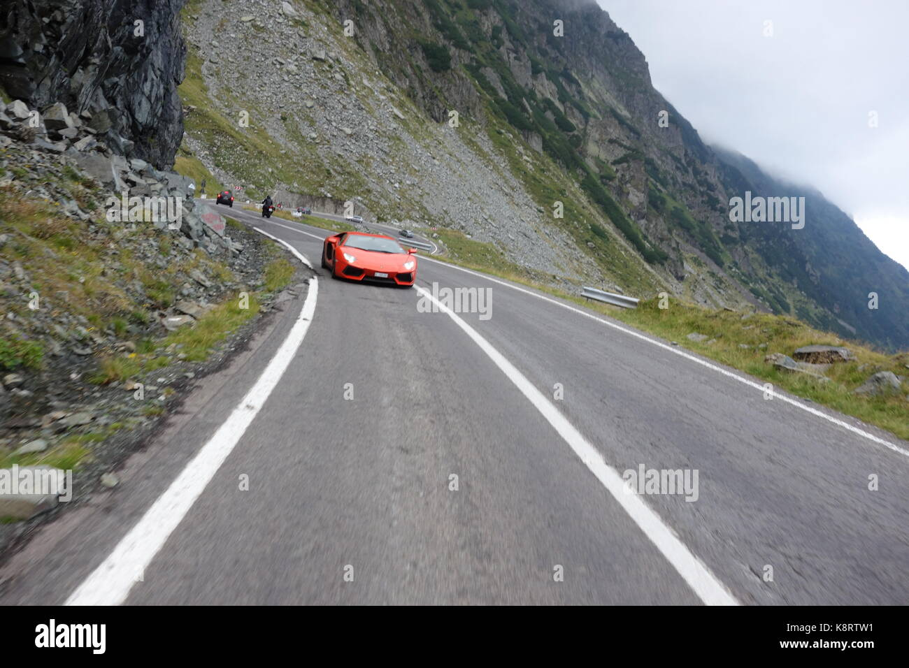 lamborghini on road stock photos lamborghini on road. Black Bedroom Furniture Sets. Home Design Ideas
