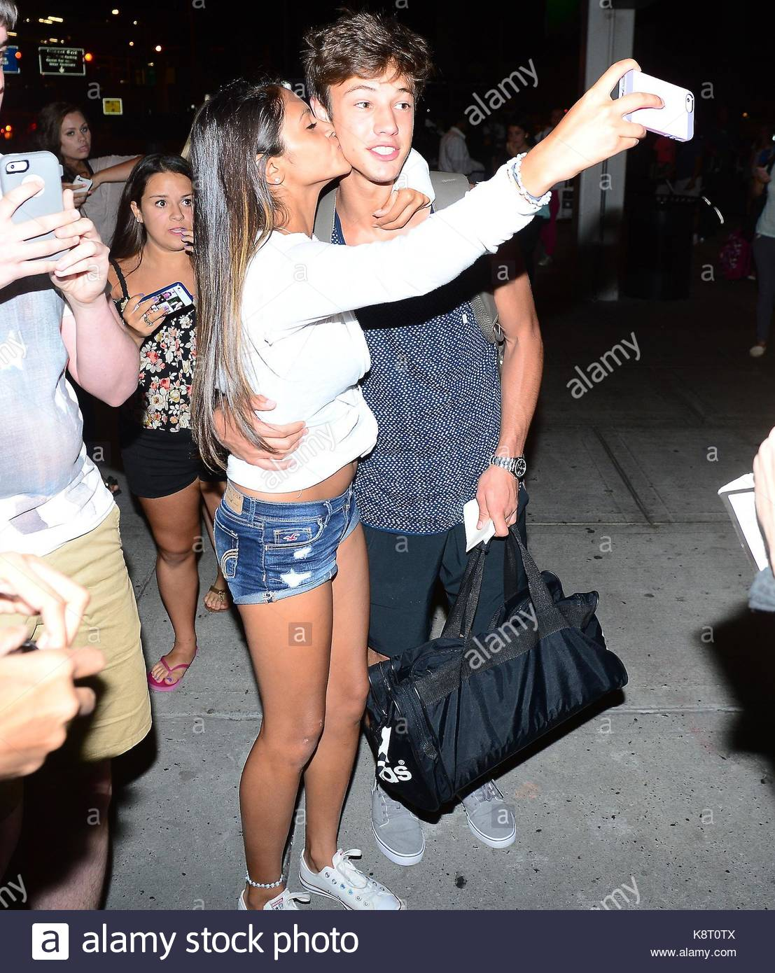 Cameron dallas cameron dallas and nash grier were spotted arriving cameron dallas and nash grier were spotted arriving in nyc on monday they were greeted by a swarm of fans waiting to meet them m4hsunfo
