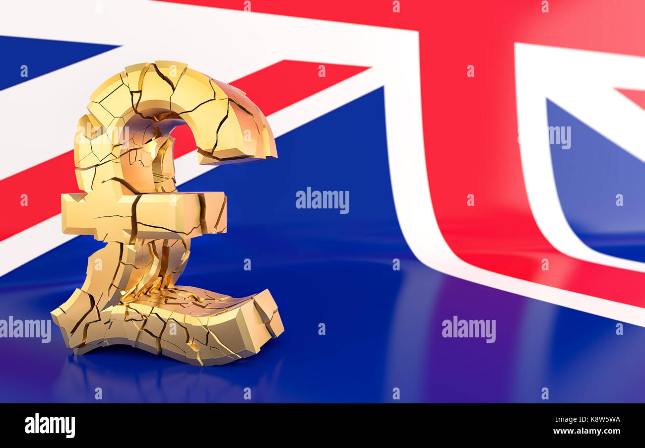 Pound sign and broken stock photos pound sign and broken stock brexit broken pound sign united kingdom flag 3d rendering stock image buycottarizona Images