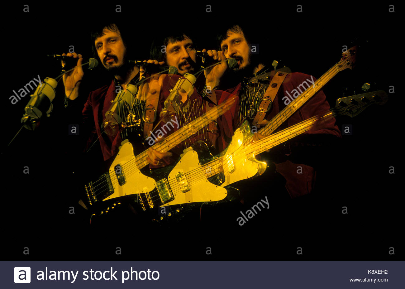 John Entwistle of the English rock band The Who performing live at ...