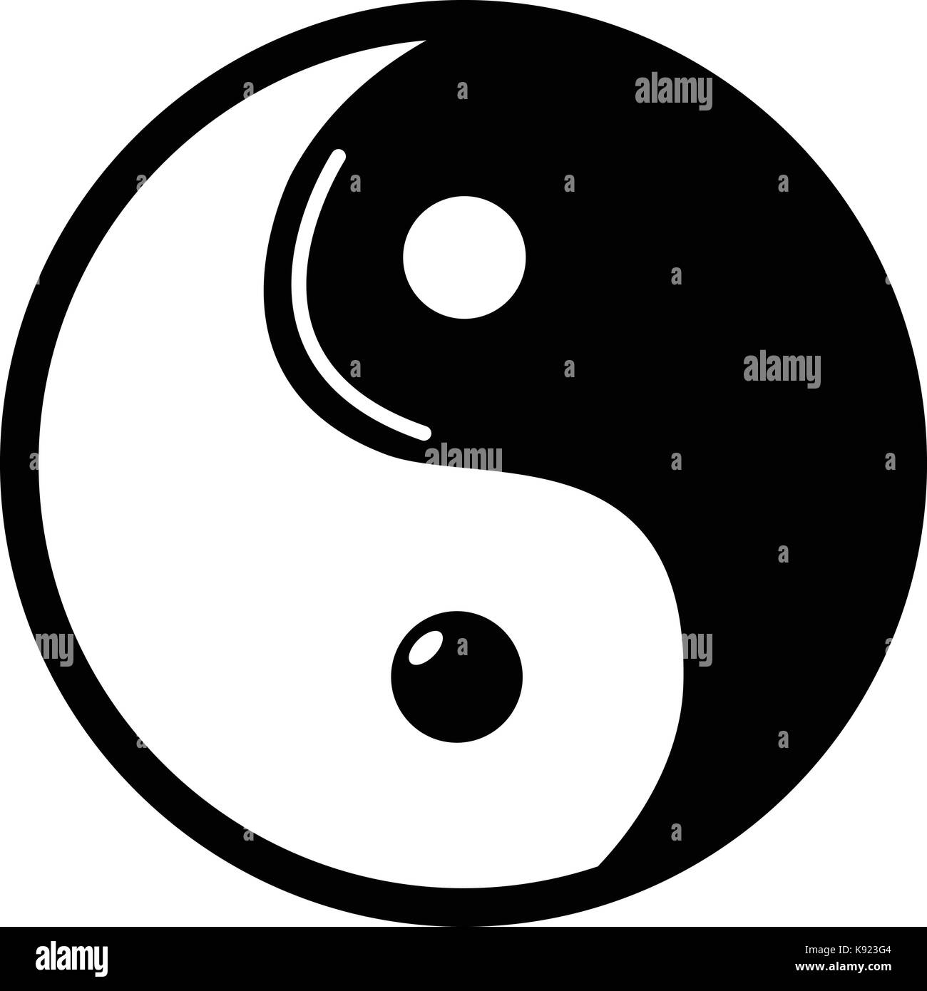 Yin yang symbol taoism icon simple style stock vector art yin yang symbol taoism icon simple style biocorpaavc