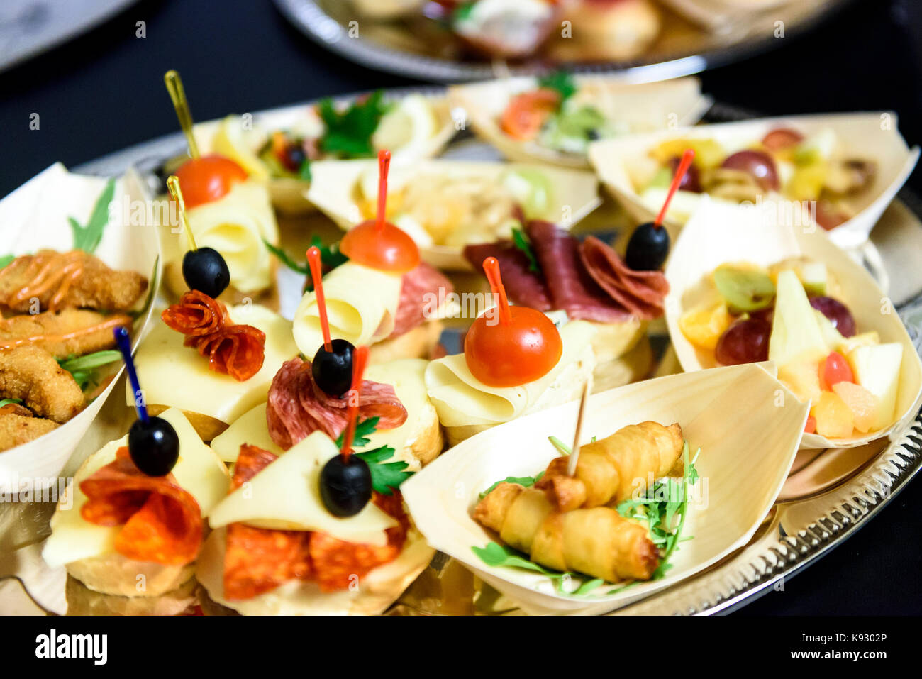 Appetizers christmas stock photos appetizers christmas for Canape wraps